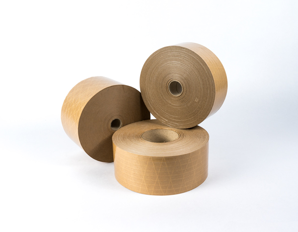 Kraft reinforced brown F-3 water activated tape gummed paper tape IBERGUM
