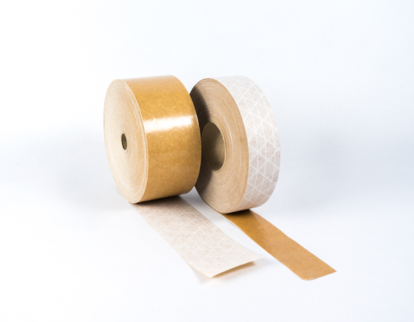 Kraft reinforced white F-4 gummed paper tape water activated tape