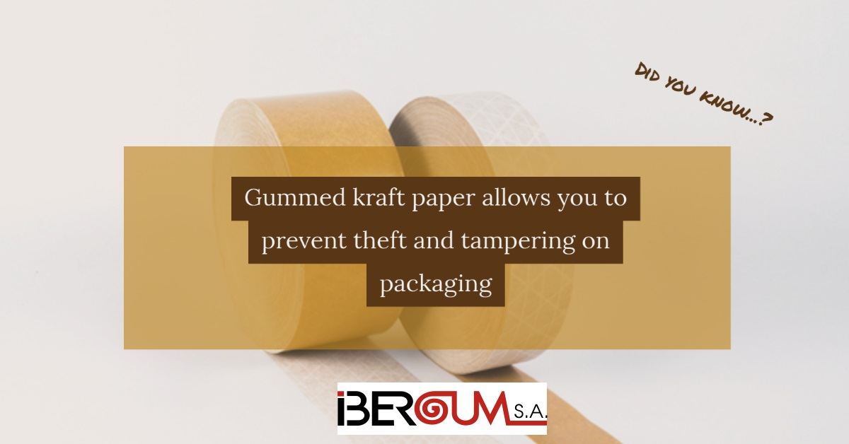 Kraft gummed tapes/water activated tapes and robbery in packaging