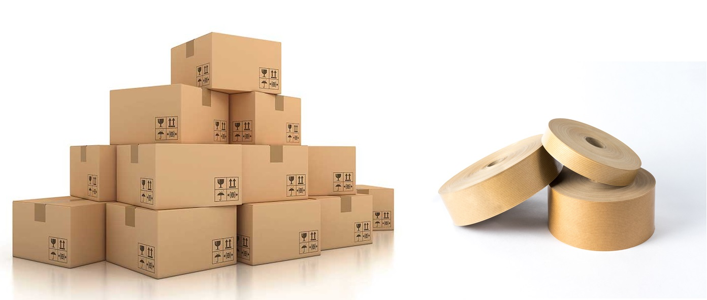 Cardboard box and gummed paper tape: the perfect couple in packaging
